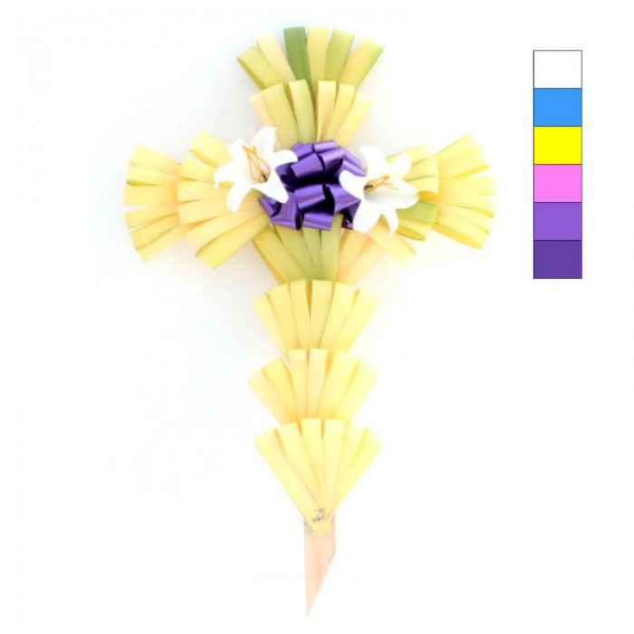 "24"" Palm Cross Decorated"