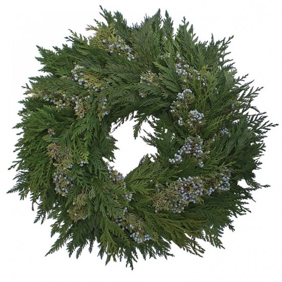 Cedar Juniper Blue Berried Wreath